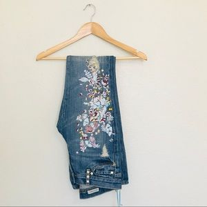 7 for all mankind Zac Posen embroidered jeans